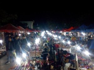 Night market à Luang Prabang.
