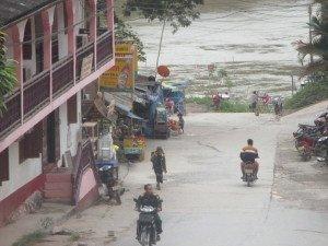 Pakbeng vue sur le Mékong.